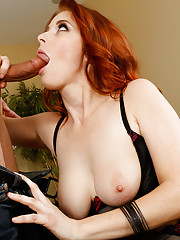Penny Pax was locked out of her boyfriend's house so she went over to the nearest neighbor to use their phone. While there, her blanket slips off and reveals that she has really sexy lingerie on. She was going to surprise her boyfriend with it when s