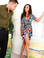 Ariella is an art collector looking to part with some of her paintings and Johnny is the potential buyer. Ariella doesn't keep the paintings at a gallery though, she looks to invite customer up to her bedroom to view her merchandise. As Johnny is ben