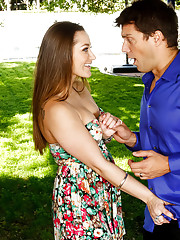 Dani Daniels is getting some tips about Spain from Ramon. What Dani really wants to know about is the Spanish men. She wants a crash course in Spanish sex with Spanish men from Ramon. Ramon resists her advances as he is married, but Dani is very persuasiv