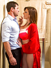 Sara is having some trouble at her place with her ceiling fan and her water heater. Preston who does the maintenance comes over to assess the situation and figures there must be something wrong with the fuse box. Sara acts as if she doesn't know wher