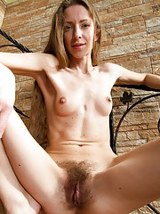 On the stairs, Ryisya slowly undresses & removes her pink stockings. She shows her hairy pits along with a naked & slender hairy body. But, her hairy pussy gets our attention & it will get yours too.